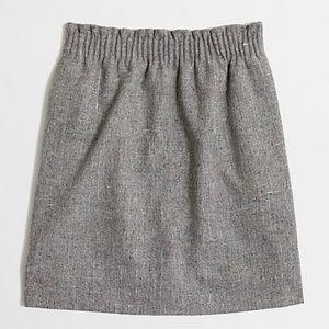 J. Crew | Pleated Mini Skirt in Flecked Wool